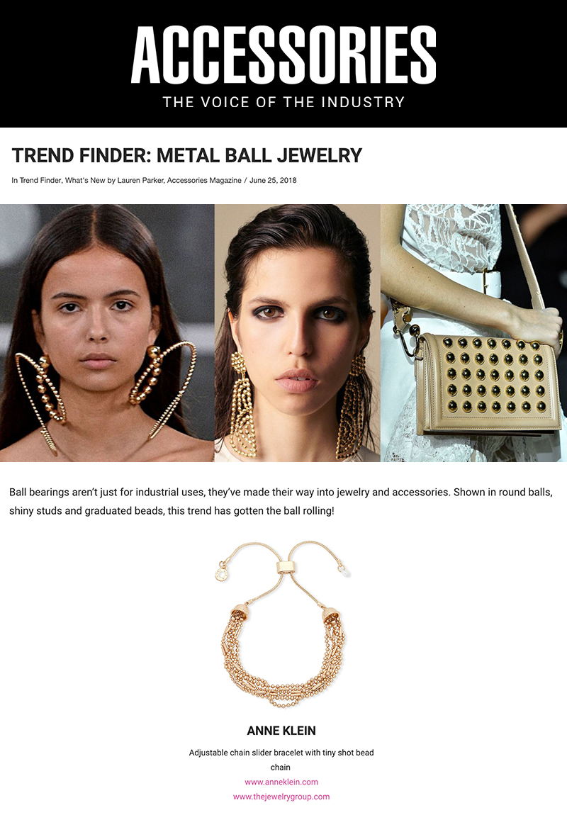 Press Feature in Accessories featuring The Jewelry Group