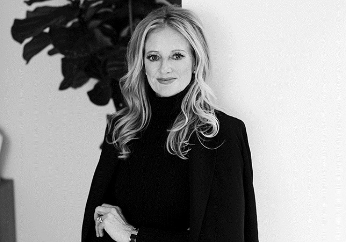 Black and white profile photo of Fran Lukas, Chief Executive Officer of The Jewelry Group.